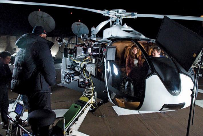 съемки вертолета